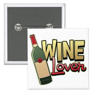 Wine Lover 15 Cm Square Badge