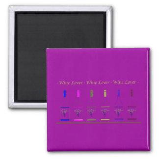 WINE LOVER_6 BOTTLES REFRIGERATOR MAGNET
