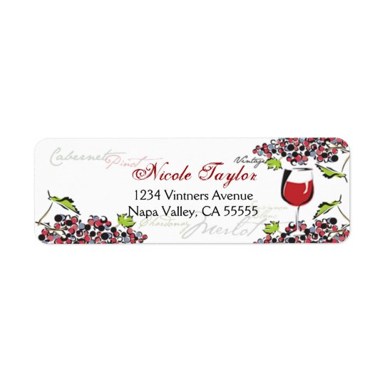Wine Lover Address Label - Small