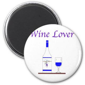 WINE LOVER_BLUE BOTTLE FRIDGE MAGNETS