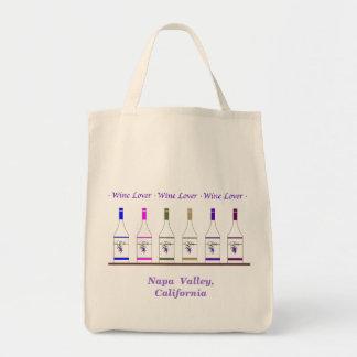 WINE LOVER-Napa Valley CA Canvas Bag