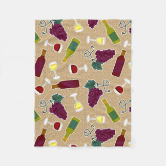 Wine Lover Pattern Fleece Blanket