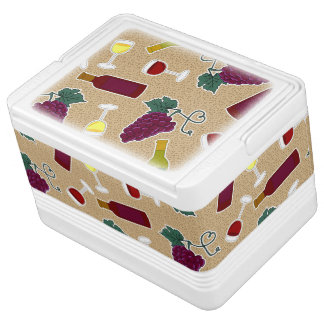 Wine Lover Pattern Igloo Cooler
