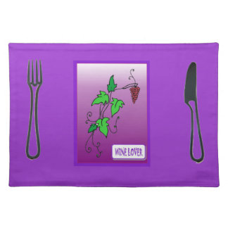 Wine lover placemat