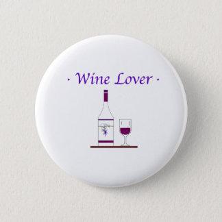 WINE LOVER_PURPLE 6 CM ROUND BADGE