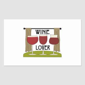Wine Lover Rectangle Stickers
