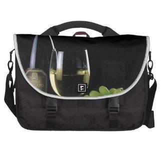Wine Lover White Wine Bottle Glass Grapes Laptop Computer Bag