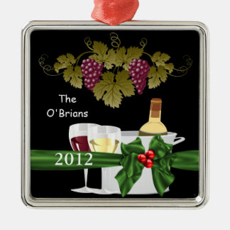WINE LOVERS 2012 ORNAMENT PERSONALIZED