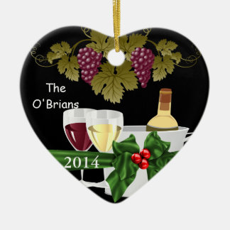 WINE LOVERS 2014 ORNAMENT PERSONALIZED