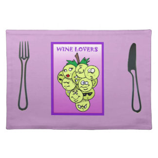 Wine lovers placemat