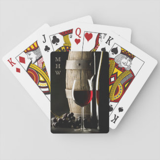 Wine Lover's custom monogram playing cards