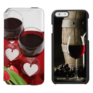 Wine Lover's custom monogram wallet cases Incipio Watson™ iPhone 6 Wallet Case