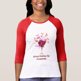 Wine Lovers Design T-Shirt for Women