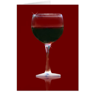 Wine Lover's Red Wine Birthday Card