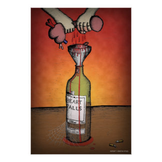 Wine made from the heart poster