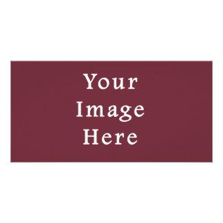 Wine Magenta Color Trend Blank Template Custom Photo Card