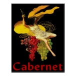 Wine Maid Cabernet Poster