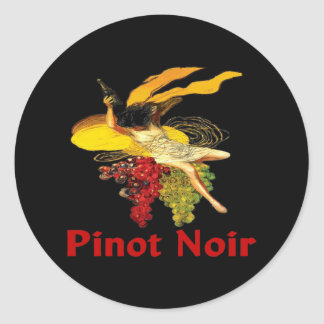 Wine Maid Pinot Noir Classic Round Sticker
