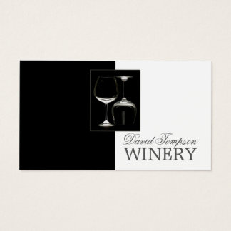 Wine Maker Sommelier Winery Black Glass Card