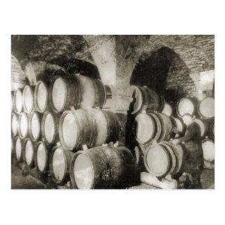 Wine making Wine barrels Postcard