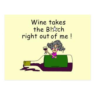 Wine Mellows Me Postcard