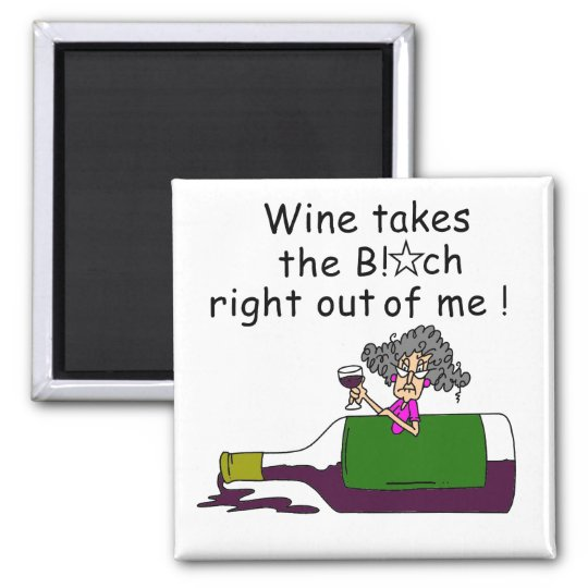 Wine Mellows Me Square Magnet
