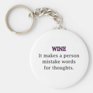 Wine Mistakes Basic Round Button Key Ring