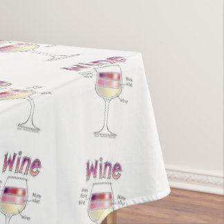 WINE, MORE WINE, EVEN MORE WINE TABLECLOTH