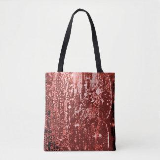 Wine Mottled Wax Texture Cloth Bag
