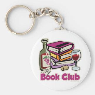 Wine: My Book Club Basic Round Button Key Ring