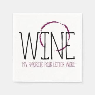 Wine My Favorite Four Letter Word | Cocktails Paper Serviettes
