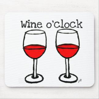 """WINE O'CLOCK"" FUN RED WINE PRINT MOUSE MAT"