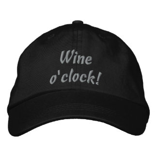 Wine o'clock! Funny Embroidered Hat