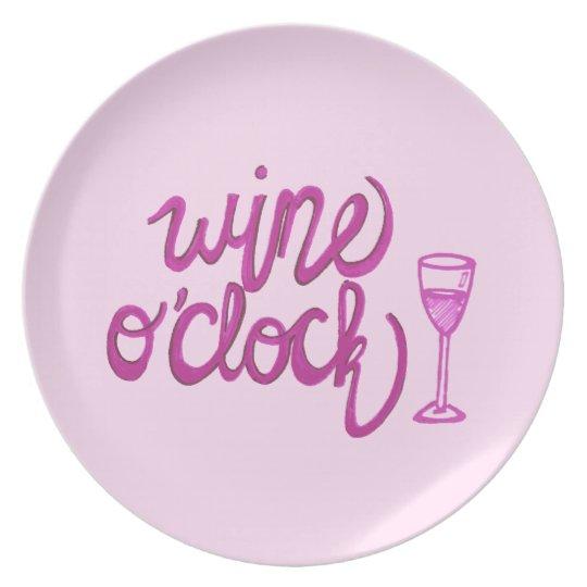 Wine O'Clock Plate