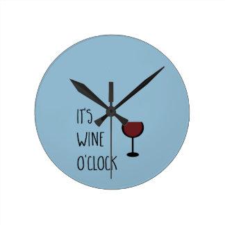 Wine O'Clock Wallclock