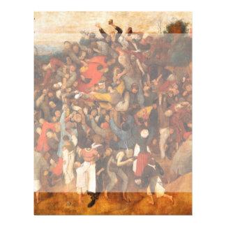 Wine of Saint Martins Day by Pieter Bruegel 21.5 Cm X 28 Cm Flyer