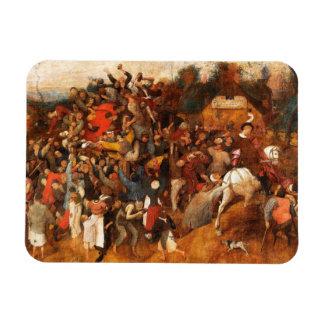 Wine of Saint Martins Day by Pieter Bruegel Flexible Magnets