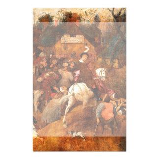 Wine of Saint Martins Day by Pieter Bruegel Flyer Design