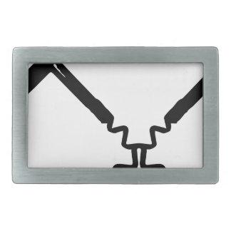 wine opener rectangular belt buckle