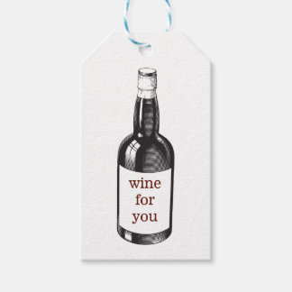 Wine or bottle themed gift tag