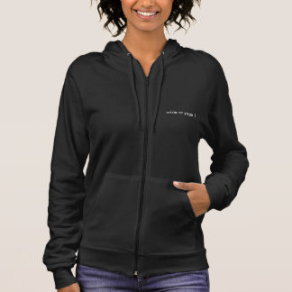 wine or yoga sleeveless hoodie