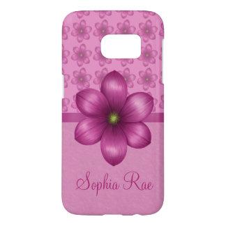 Wine Pink Flower Pattern