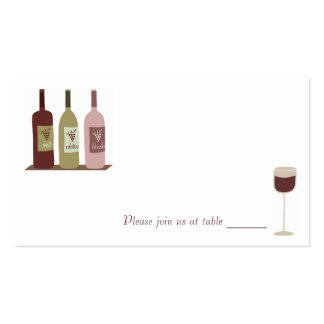 Wine Place Cards Pack Of Standard Business Cards
