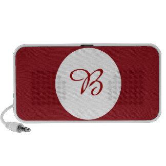 Wine Polka Dot Laptop Speaker