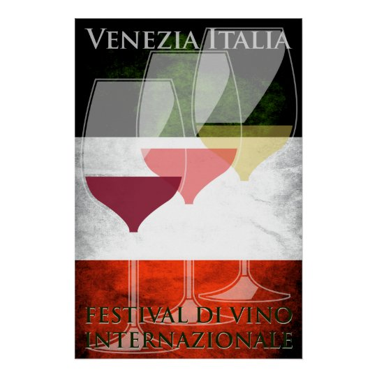 Wine Poster Italy Italian