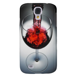 Wine poured in glass galaxy s4 case