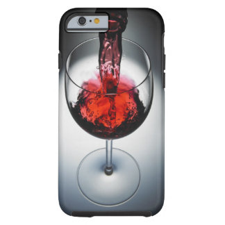 Wine poured in glass tough iPhone 6 case