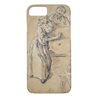 Wine-pourer with a Young Man (chalk) card iPhone 8/7 Case