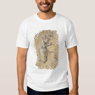 Wine-pourer with a Young Man (chalk) card T Shirts