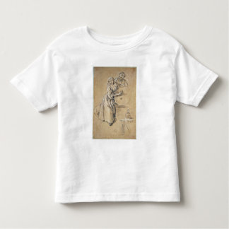 Wine-pourer with a Young Man (chalk) card Toddler T-Shirt